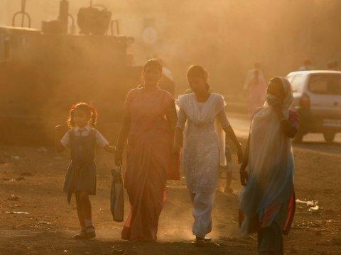inquinamento dell'aria in india