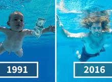 """Il bambino di """"Nevermind"""" ricrea l'iconica copertina dei Nirvana 25 anni dopo"""