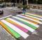 Le strisce pedonali di Madrid trasformate in opere d'arte