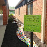 Ogni studente di questa scuola ha dipinto una roccia nel proprio stile: ecco il risultato