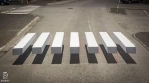 In Islanda le strisce pedonali in 3D per far rallentare gli automobilisti